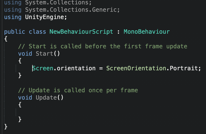 ScreenOrientationの設定